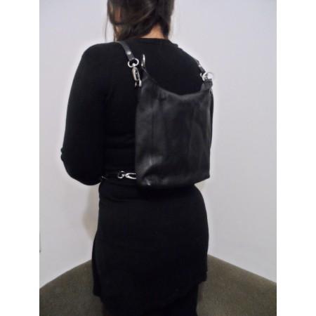 Шкіряний жіночий рюкзак-сумка