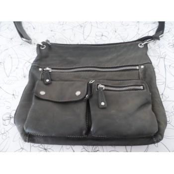 Шкіряна сумка на плече від елітного бренду Fossil /ОРИГІНАЛ