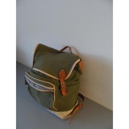 Вишуканий вінтажний рюкзак з Швейцарії (з шкірою)